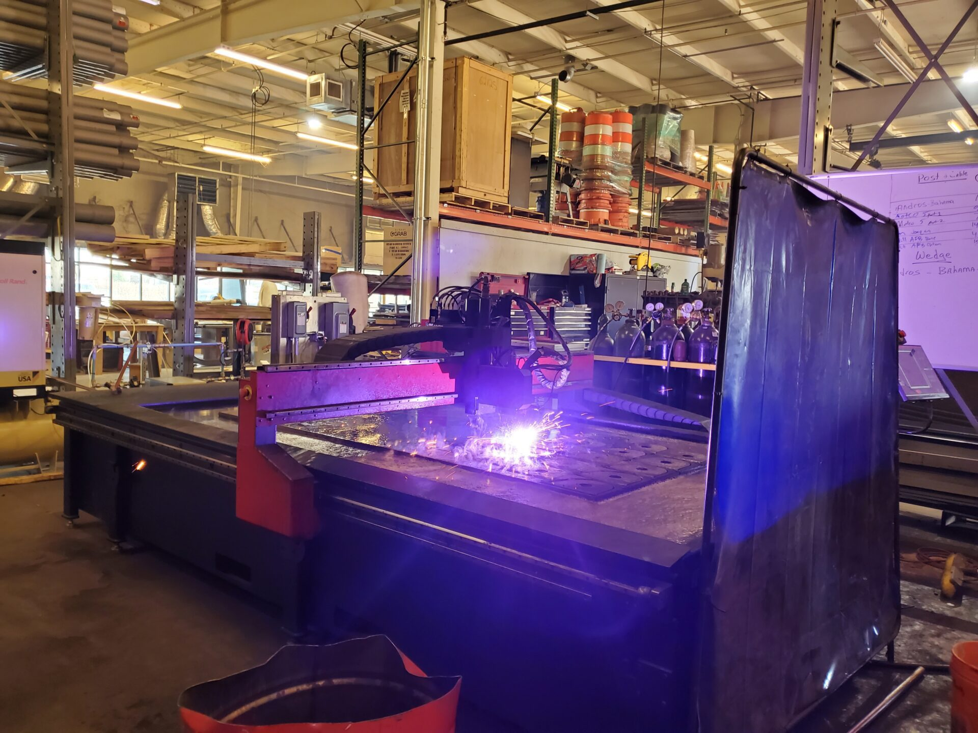 Plasma Table Working On a Customer Order January 2021